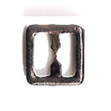 Antique Silver Tone Metal Square Buckle