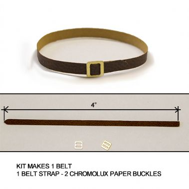 Belt Kit 3mm Brown w Buckle