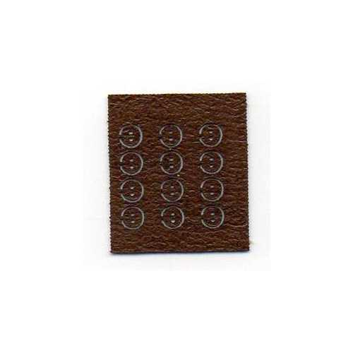 Tiny Leather Buttons - Brown