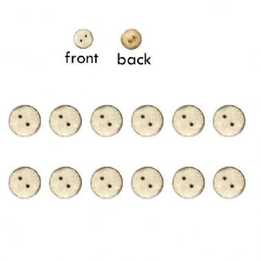 Laser Cut 2 Hole Paper Buttons White