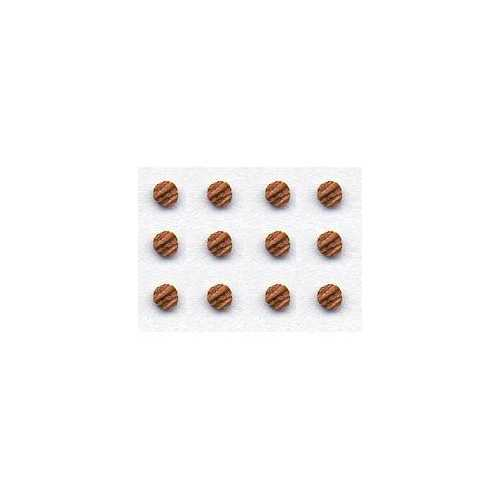Veneer Wood Buttons - Round