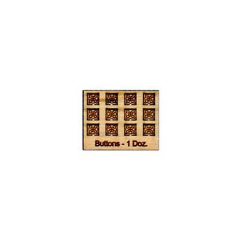 Tiny Wood Buttons- Square