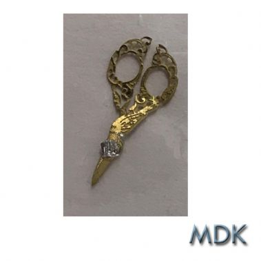 Brass Engraved Embroidery Scissors
