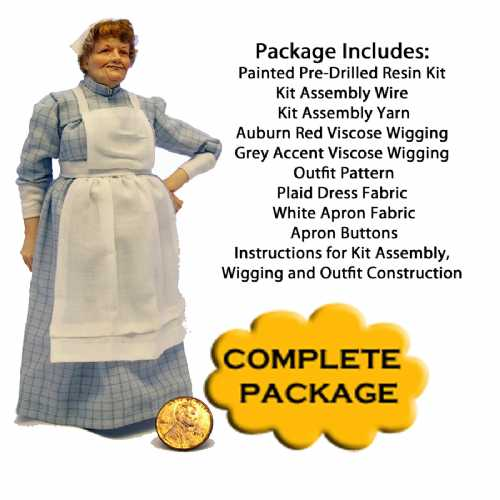 Edwardian Cook Complete Kit Package Blue Plaid