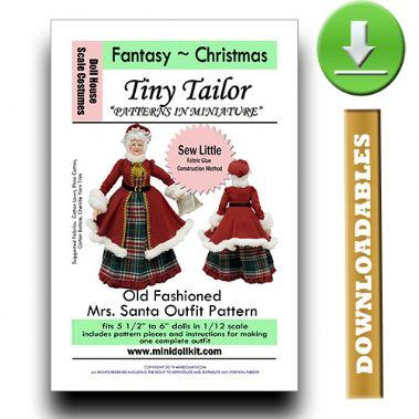 Downloadable Old Fashioned Mrs Santa Outfit Pattern