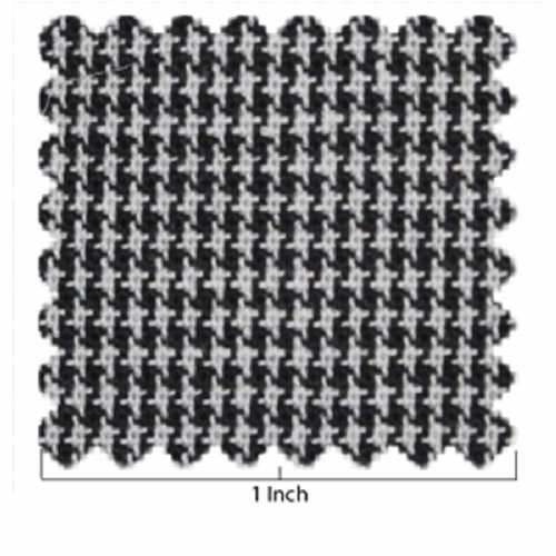 Black and Ivory Houndstooth Fabric
