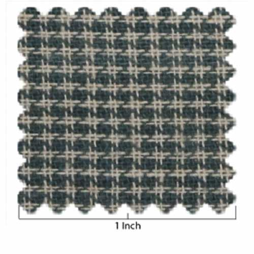 Green and Ivory Houndstooth Fabric