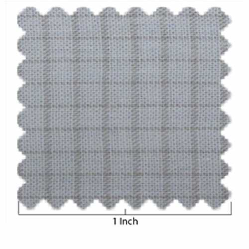 Woven Light Blue and Taupe Window Pane Fabric