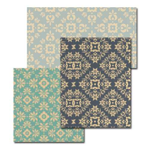 Vintage Diamond Wallpaper 3 Pack