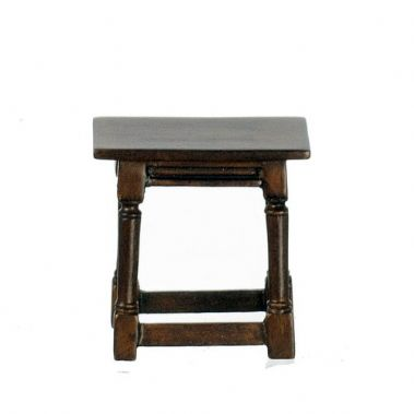 Turned Leg Stool Walnut