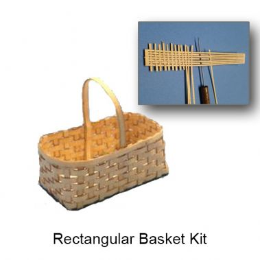 Laser Cut Rectangular Basket Kit