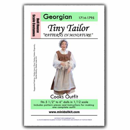 Georgian Era Cook Outfit Pattern