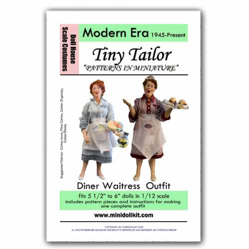 Modern Era Diner Waitress Outfit Pattern