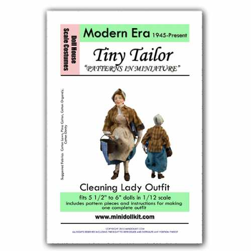 Modern Era Cleaning Lady Outfit Pattern