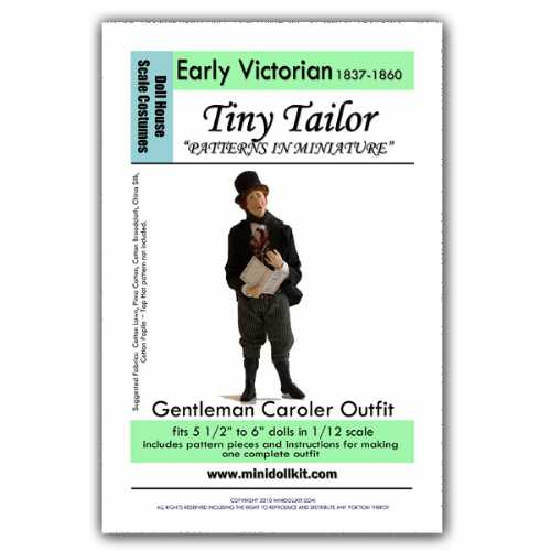 Gentleman Christmas Caroler Outfit Pattern