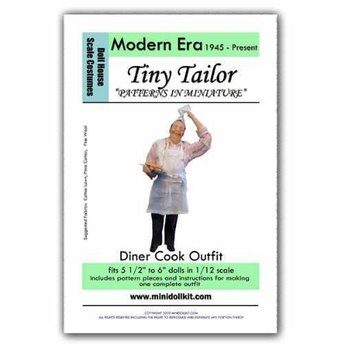 Modern Era Diner Cook Outfit Pattern