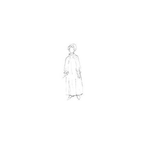 Colonial Nightgown and Mob Cap Pattern