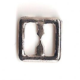 Silver Tone Metal Square Buckle