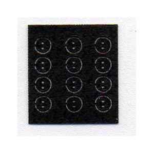 Tiny Leather Buttons - Black