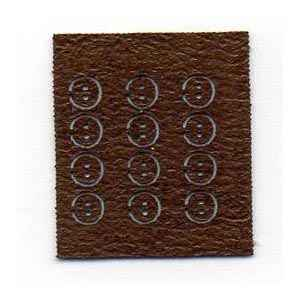 Tiny Leather Buttons Brown