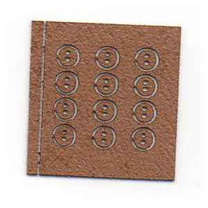 Tiny Leather Buttons - Tan