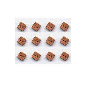 Veneer Wood Buttons - Square