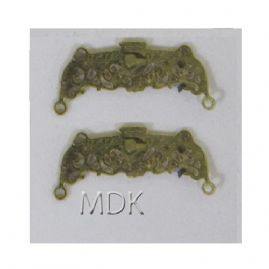 Ornate Purse Clasp Brass 2pck