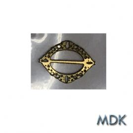 Oval Shawl Pin Gold Tone