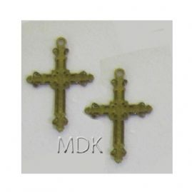 Ornate Cross Brass 2pck