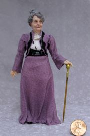 Dowager Countess in Purple Print