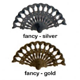 Ladies Fancy Metallic Fans