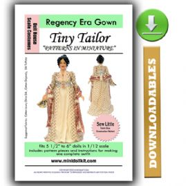 Downloadable Regency Era Gown Pattern