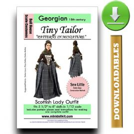 Downloadable 18thc Scottish Lady Outfit Pattern