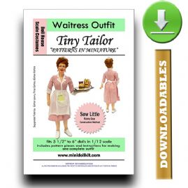 Downloadable Waitress Outfit Pattern