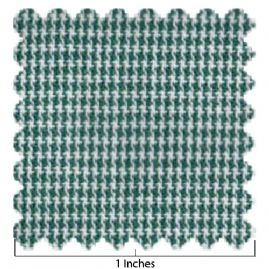 100% Cotton Hunter Green & White Micro Check Fabric