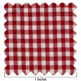 Cotton Red & White Larger Check