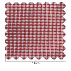 100% Cotton Red & White Mini Check
