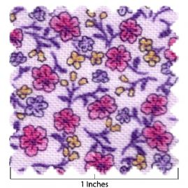 100% Cotton Purple Pink Floral Print Fabric