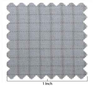 Woven Light Blue and Taupe Window Pane