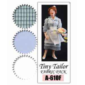 Diner Waitress Fabric Pack ~ Blue