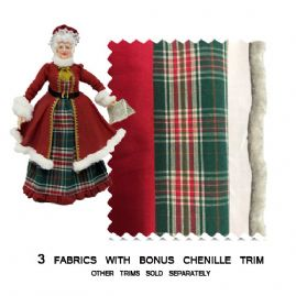 Mrs Santa Mini Fabric Pack