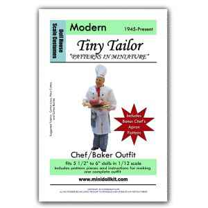 Modern Baker ~ Chef Outfit Pattern